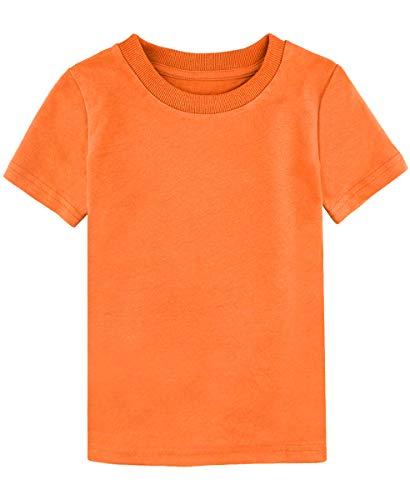 MOMBEBE COSLAND Camisetas Bebé Niños Corta Algodón T-Shirt, 92, Naranja Claro
