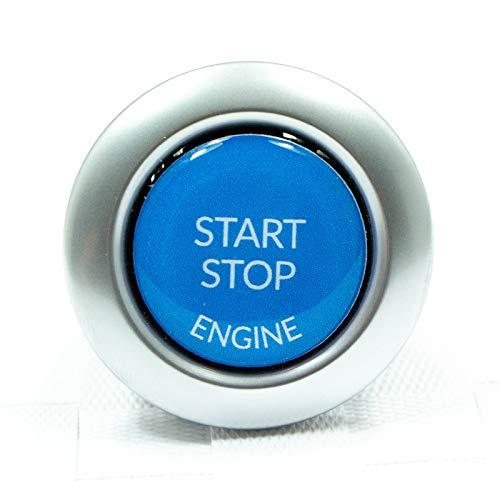 Start Stop Engine Knopf (1 Stück) Reparatur Schalter Schutz Kappe Austausch Taste Aufkleber Tastenabdeckung zündschlüssel Cover Zündung Blau