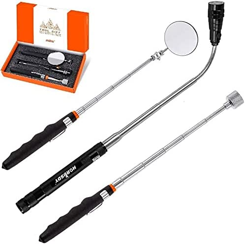popular HORUSDY 3PCS Telescoping Magnetic lowest Pickup Tool with LED lowest Lights, 16lb Pick Up Rod, 360 Swivel Adjustable Inspection Mirror, Gadget Tool for Men outlet online sale