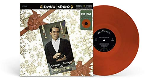 Seasons Greetings From Perry Como - Exclusive Limited Edition Gift Wrap Red Colored Vinyl LP
