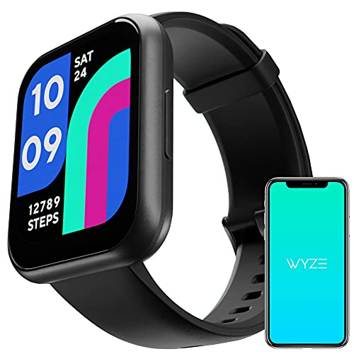 """Wyze Smart Watch, 1.75""""(47mm)Aluminum Smartwatch for Android Phones and iOS Phones IP68 Waterproof Fitness Tracker with Heart Rate/Blood Oxygen/Sleep/ Menstrual Monitor Digital Watch for Women and Men"""