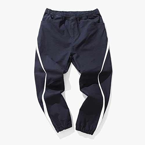 Dufjodi Le Japonais Pantalon Pantalon d'hiver, Les Jeunes Hommes est Toile Pantalon élastique m,Marine,l