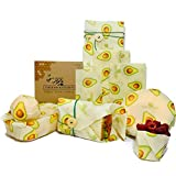 Beeswax Food Wrap by Thisam Kitchen - 4 Pack - Eco Friendly Reusable...