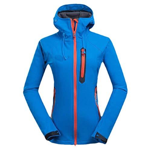 SOWTKSL Damen wasserdichte Windbreaker Skijacke Warm Winter Schnee Mantel Berg Kapuze Regenmantel Gr. XS, hellblau