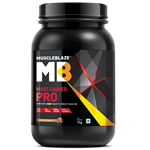 MuscleBlaze Mass Gainer Pro with Creapure (Chocolate, 1 Kg / 2.2 lbs)