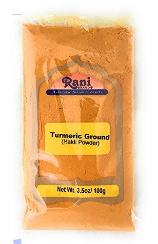 Rani Turmeric Root Powder Spice, Haldi (High Curcumin Content) 3.5oz (100g) ~ All Natural | 100% Pure, Salt Free | Vegan | Gluten Friendly Ingredients | Non-GMO | Indian Origin