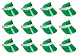 Beistle 60313-G 12-Pack Clear Green Plastic Dealer's Visor