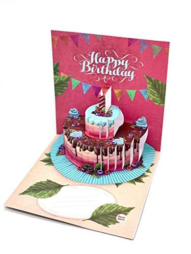UNIQARD 3D-Geburtstagskarte - Pop-up-Karte mit Aufnahmefunktion - Außergewöhnliche Grußkarten zum Geburtstag - Geschenkideen, ideal für Gutscheine & Geldgeschenke - Für Kinder & Erwachsene