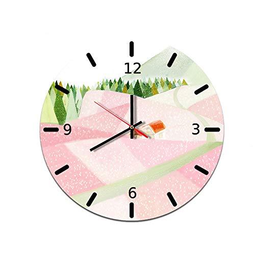 LUOYLYM Reloj De Pared Creativo Casero De Dibujos Animados Reloj De Decoración De Pared De Acrílico Reloj De Espejo De Movimiento Mudo L181125-a011 28CM