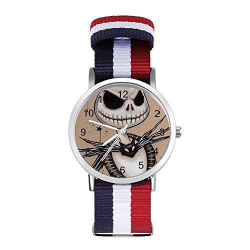Jack and Sally Nightmare Before Christmas Reloj de pulsera de cuarzo para hombres y mujeres niños amigos regalos