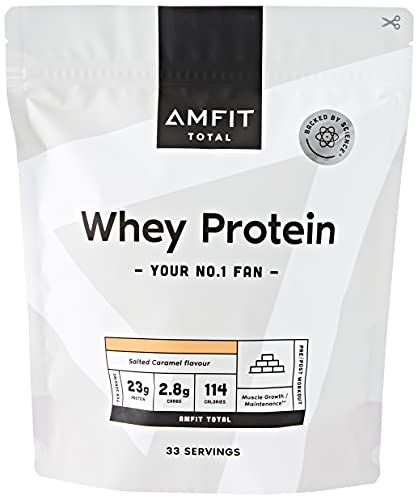 Marchio Amazon - Amfit Nutrition Proteine del Siero del Latte, Gusto Caramello Salato, 1kg