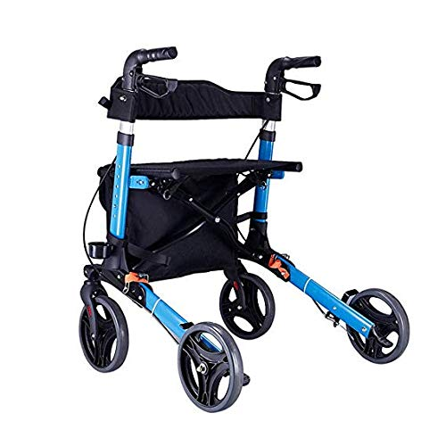 Drive Medical Walker Walker Carro Plegable, Resistente con Asiento, Si