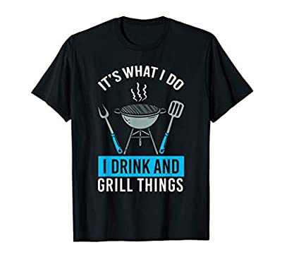Cook Tshirt Drink And Grill Things BBQ Set Tools T-Shirt