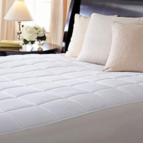 Sunbeam Premium Luxury Quilted Electric Heated Mattress Pad Twin Size Auto Shut Off 20 Heat Settings