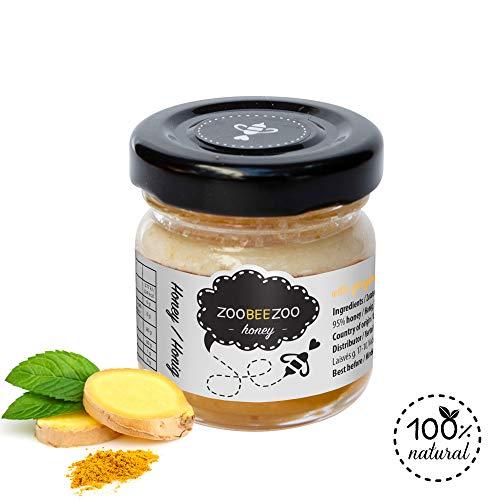 Pure honing met gember - biologische honing van hoge kwaliteit - zo gezond als Manuka-honing uit Nieuw-Zeeland - echte bloesemhoning (50g)
