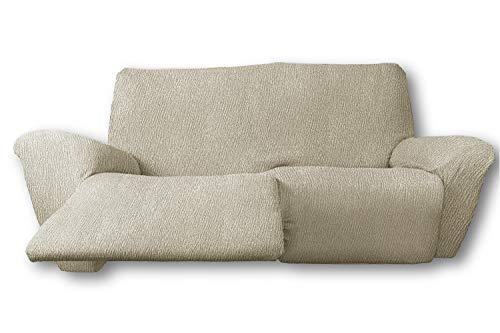 El Tintorer Funda de sofá Bielástica Relax Nice (Sofá Relax 3 plazas, Beig)