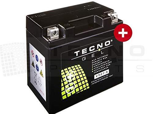 TECNO-GEL Motorrad-Batterie YTZ7-S, 12V Gel-Batterie 6Ah (DIN 50616), 114x71x106 mm inkl. Pfand