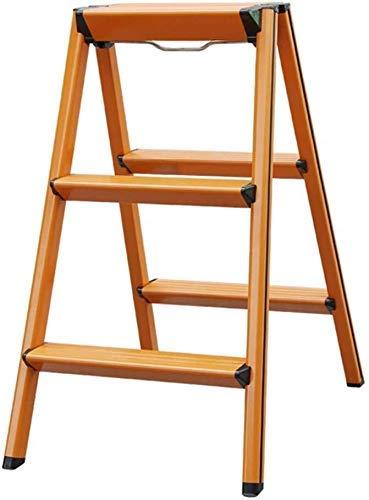 Qazxsw Tritthocker Tritthocker, Leiter aus Aluminiumlegierung Zusammenklappbare kleine Leiter Verdickungsleitern Aufbewahrungshocker (Farbe: Nr. 1)