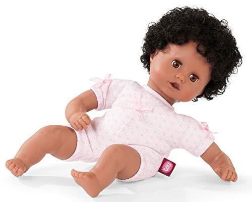 Götz 1920835 Muffin to Dress Puppe - 33 cm große Babypuppe mit braunen Schlafaugen, Schwarze Haare und Weichkörper - ab 18 Monaten