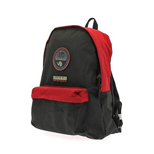 Napapijri Voyage Team - Zaino Unisex Adulto 40 × 32 × 13 cm esclusa tasca frontale adatto per la scuola nonché per essere utilizzato come bagaglio a mano (Rosso Nero)