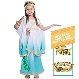Spooktacular Creations Deluxe Greek Goddess Costume Set (M(8-10), Greek)