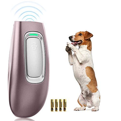 Handheld Antibell für Hunde, Ultraschall Anti Bell Gerät Abschreckende Hundebellen-Kontrolle Mit LED-Anzeige, Anti-Bark-Gerät Sicheres Trainingswerkzeug für Hunde 16.4 Ft Range Hunde Bellenstopper