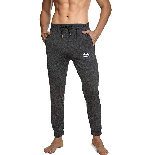 MEETWEE Pantaloni da Jogging Uomo, Lungo Pantaloni Tuta Fitness Pantalone Sportivi Slim Fit Casual Pants Tasche con Zip