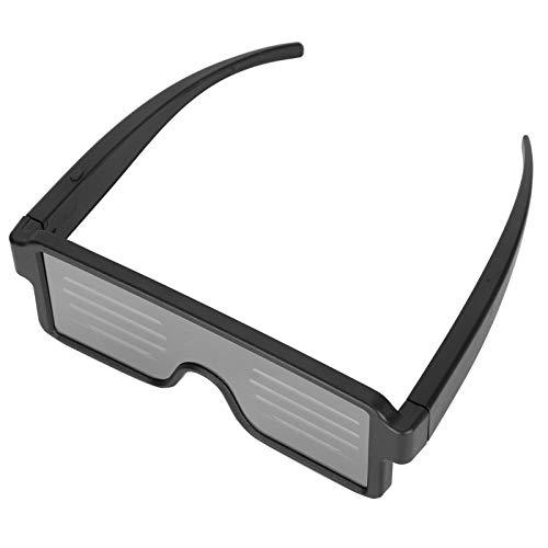 Emoshayoga Gafas Que Brillan intensamente no tóxicas Gafas con luz Recargable para Bares de carnavales