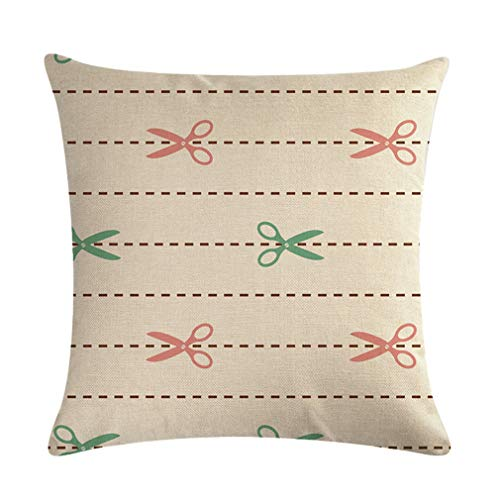 Nunubee Funda de Cojine Lino 45 x 45 Funda de Almohada Sofá Sala de Estar Dormitorio Cama Decorativos, Simple