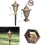 Solarenergie Anti Moskito Lampe Rasenlicht im Innenhof, UV LED Moskito-Lampe Elektrischer Insektenvernichter Keine giftigen Chemikalien, Innen- und Gartenlampe zum Töten von Mücken, Insekten, Motten