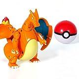 Poke Ball Transformation Action Figures 6 Styles Pokeball Set Toys Capsule Doll Game Ball go (Orange)