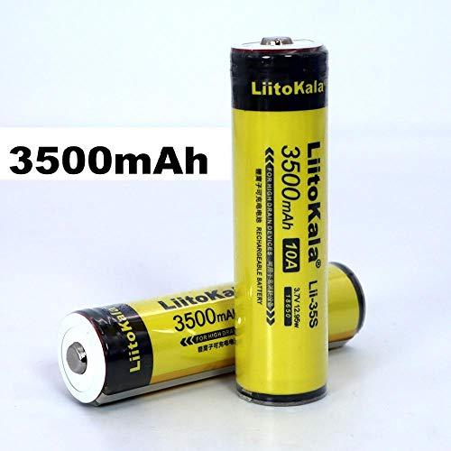 2er Pack Button Oben 18650 3400mAhLi-lon Akku 3.7V Für Taschenlampe + DIY Pointed