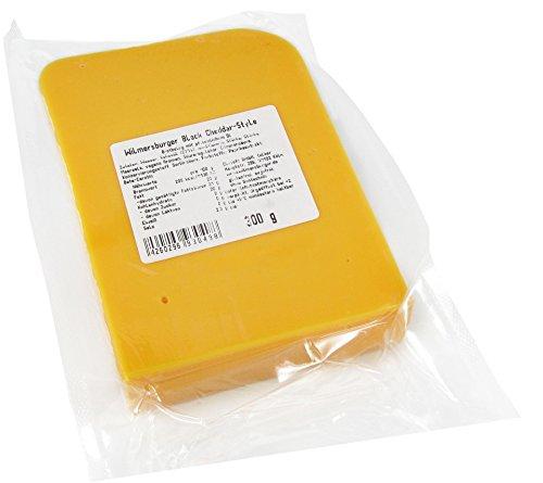 Wilmersburger Block Cheddar-Style - 300 g laktosefreies, veganes Käse Stück