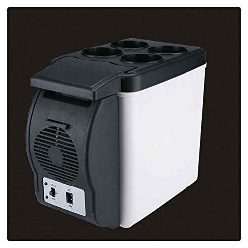 WNDRZ Enfriador Portátil 6L Mini Nevera DC12V Refrigerador De Coche Dormitorio De Estudiantes Caja De Refrigeración Congelador Táctil Refrigerador Automático Silencioso (Color : White)