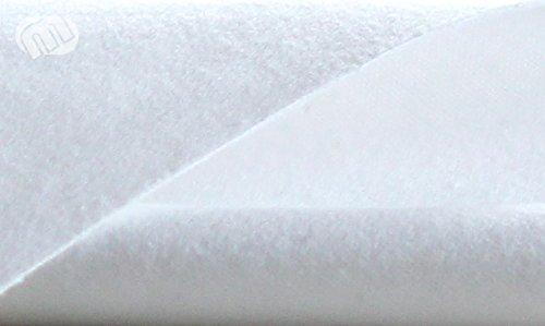 Tischmolton weiß 100 cm breit Meterware