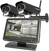 Defender PHOENIXM2 Plug-In Power Security Cameras- for Home & Business Surveillance Indoor & Outdoor Bullet Cameras with 7 Inch LCD Display Monitor No Wi-Fi Needed Free 16 GB SD Card Included (2 Pack)