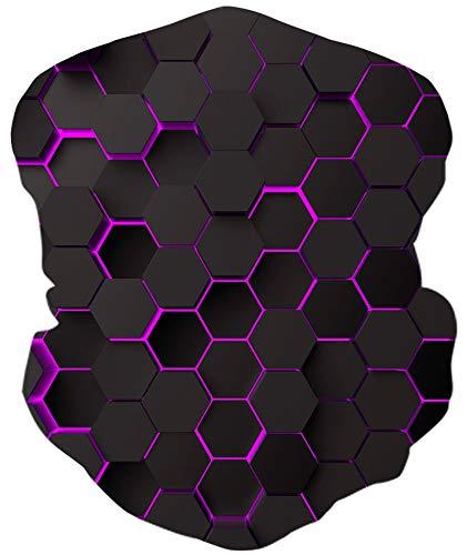 ALISISTER Multifunktionstuch Nahtloses Bandana Halstuch Schlauchtuch 3D Geometrie Druck Kopftuch Stirnband Motorrad Outdoor UV Staubschutz Halbes Schal