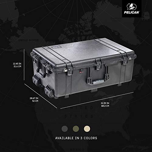 Pelican 1650 Camera Case With Foam, Black
