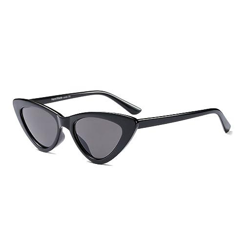 5d1fb8b976f42f BOZEVON Damen Triangle Sonnenbrille - UV400 Brillen Katzenauge Retro  Jahrgang Cat Eye Sonnenbrillen