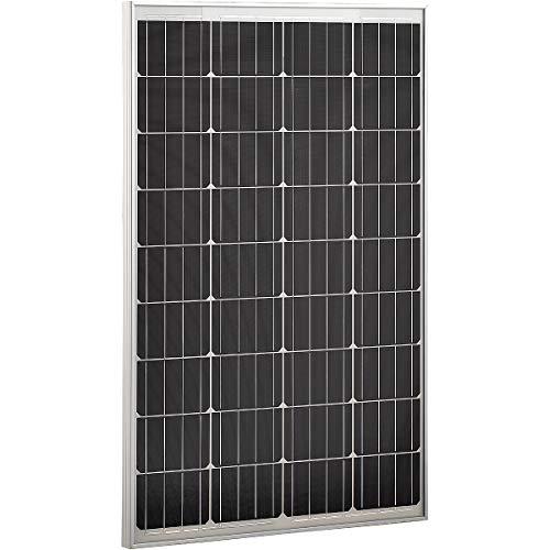 ECTIVE Monokristallines Solarmodul 12V 100W Solar Zelle Panel Modul für den Outdoor Bereich in 6 Varianten 50-160 Watt