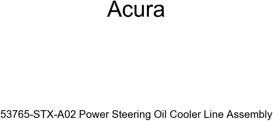 Genuine Acura 53765-STX-A02 Regular dealer Power Steering Assem Oil Cooler Free shipping anywhere in the nation Line