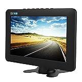 DVB-T2 Televisor Portátil Estéreo Digital de Alta Sensibilidad para Automóvil, 7 in/ 9 in / 10 in 1080P TV Digital para Automóvil, con Soporte (Negro)(9in)