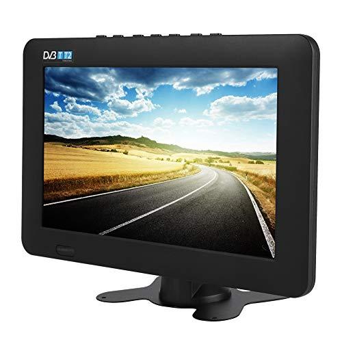 Heayzoki TV Digital portátil, DVB-T2 Alta sensibilidad TV Digital para automóvil Estéreo Que rodea 1080P Televisión para automóvil, para automóvil, Caravana, Camping, al Aire Libre, Cocina(9in)