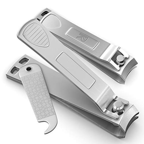 Nail Clippers Set  Fingernail Clippers amp Toenail Clippers With FLIP OUT Nail Files/Cleaners  Safe Precise amp Easy To Use  High Grade Stainless Steel Nail Clipper Set