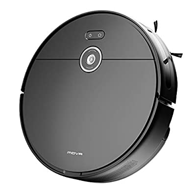 MOVA Z500 Robot Vacuum and Mop, Smart Navigation, 3000Pa Strong Suction, Robot Vacuum Cleaner with 5200mAh Large Battery, Alexa, Wi-Fi, 2-in-1 Vacuum and Mop, for Pet Hair, Hard Floor, Carpet