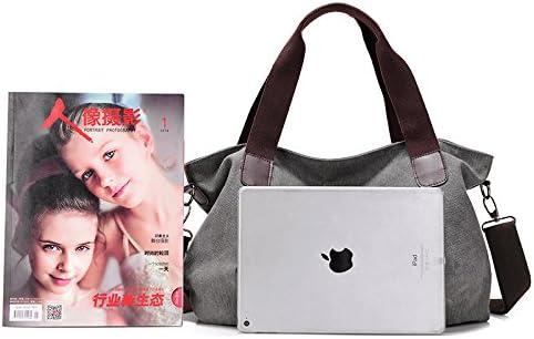 XLJJB Mode Nouveau Sac À Bandoulière Simple pour Femmes Occasionnels Portable Grande Capacité Simple Grand Sac Sac en Toile gray