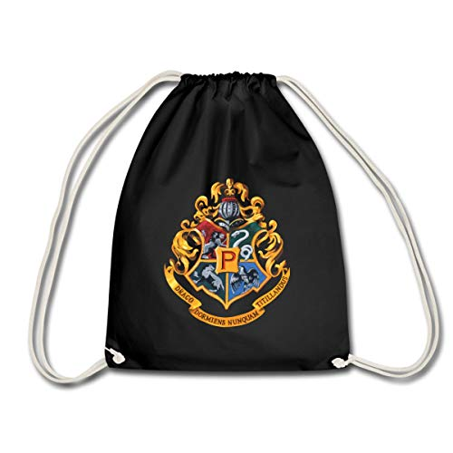 Spreadshirt Harry Potter Emblème Poudlard Peinture Sac À Dos Cordon, noir