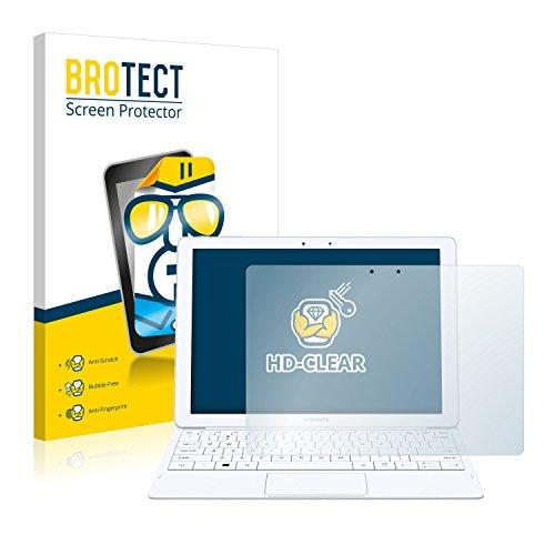 BROTECT Schutzfolie kompatibel mit Samsung Galaxy Tab Pro S (2 Stück) klare Bildschirmschutz-Folie