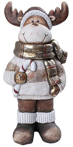 Benelando Weihnachtsfigur Rentier aus wetterfestem Kunststein - für innen und außen
