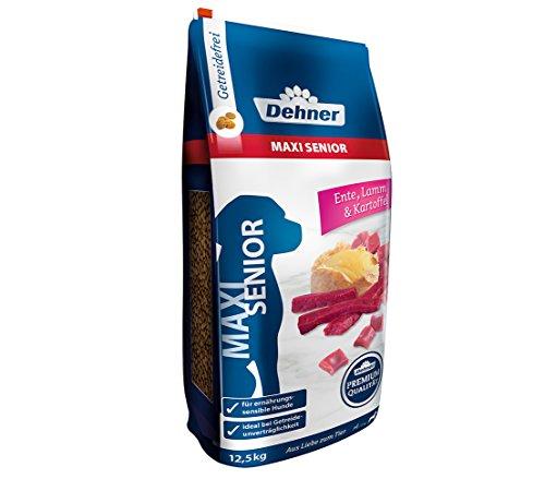 Dehner Premium Hundetrockenfutter Maxi Senior, Ente und Lamm mit Kartoffel, 12.5 kg